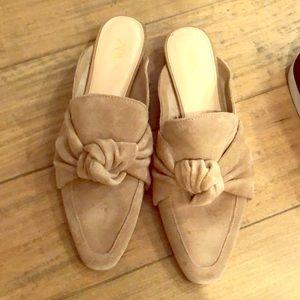 Zara Suede Mules Size 8 / 39